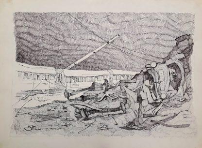 09 - La fine del viaggio - china su carta cm. 70x50
