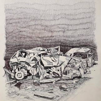 10 - Dopo l'incidente - china su carta cm. 70x50
