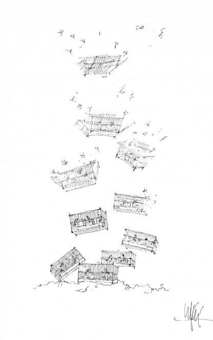 12 - Verso la libertà - china su carta cm. 67x44