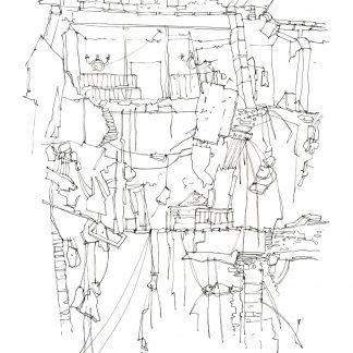 17 - Quel che rimane - china su carta cm. 58x39